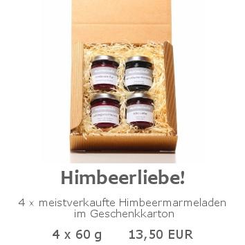 Himbeerliebe 4x60g im Geschenkkarton