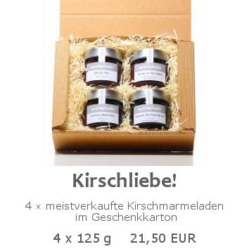 Kirschliebe 4x125g im Geschenkkarton