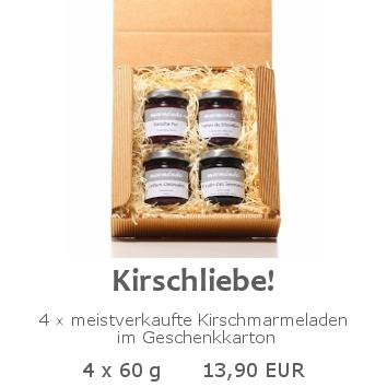 Kirschliebe 4x60g im Geschenkkarton