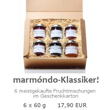 marmóndo Klassiker 6x60g im Geschenkkarton