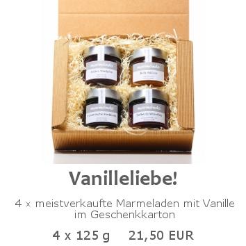 Vanilleliebe 4x125g im Geschenkkarton