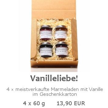 Vanilleliebe 4x60g im Geschenkkarton