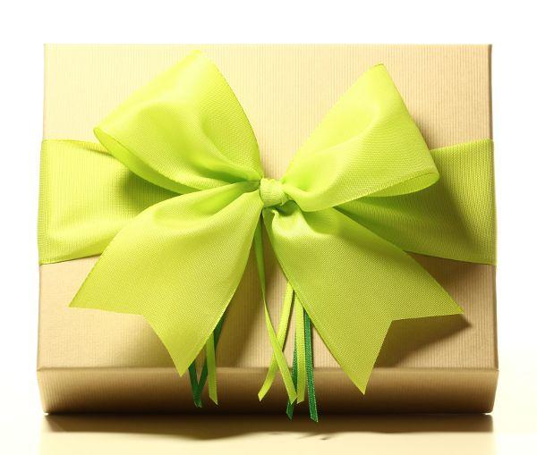 Geschenk mit Schleife Maigrün