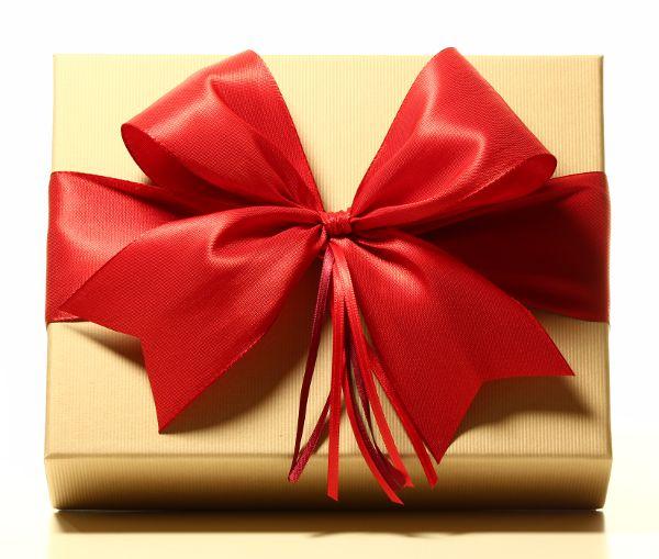 Geschenk mit Schleife Rot