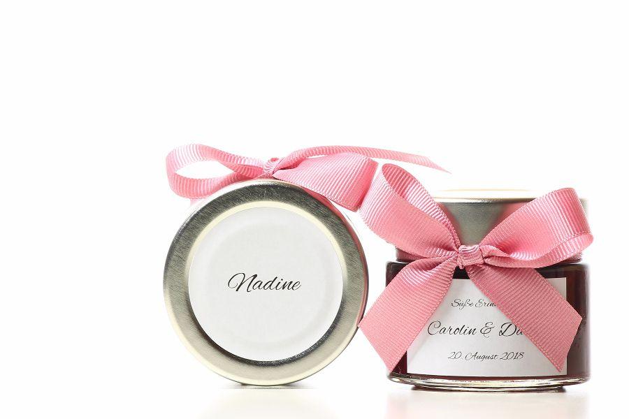 Hochzeitsmarmelade Etiketten Schönes Deckeletikett 2