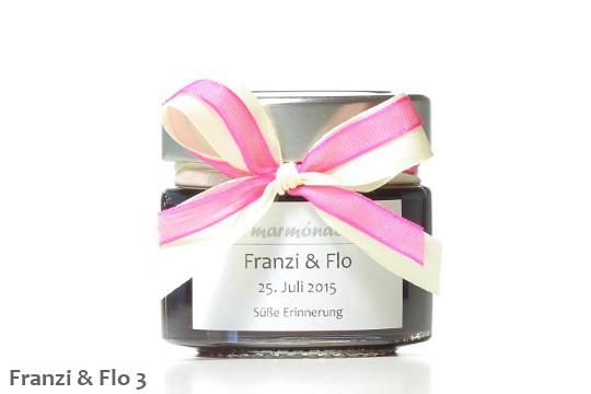 Hochzeitsmarmelade Schleifen Pink 3