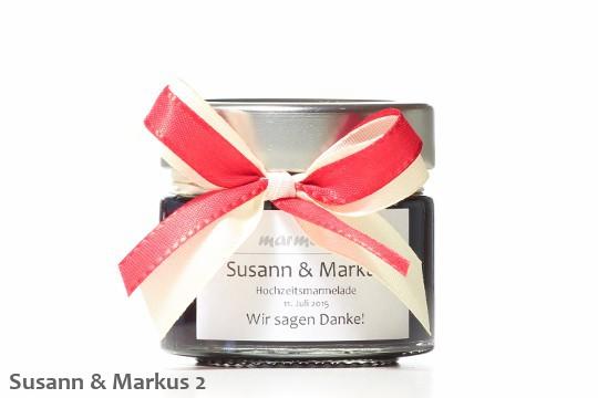 Hochzeitsmarmelade Schleifen Rot 2