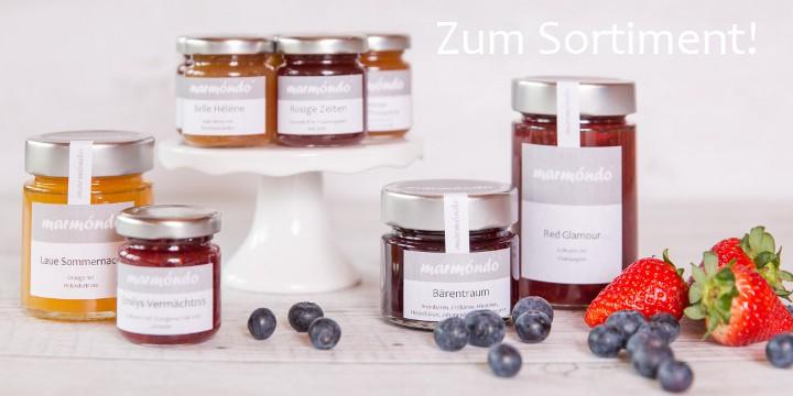 marmondo Marmeladen: Über 80 Sorten in 4 Glasgrößen