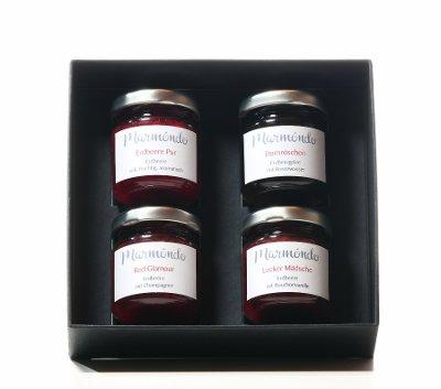 Marmeladengeschenke im Geschenkkarton - Erdbeerliebe 4 x 60g