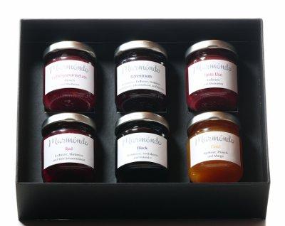 Marmeladengeschenke im Geschenkkarton mit Schleife, marmondo