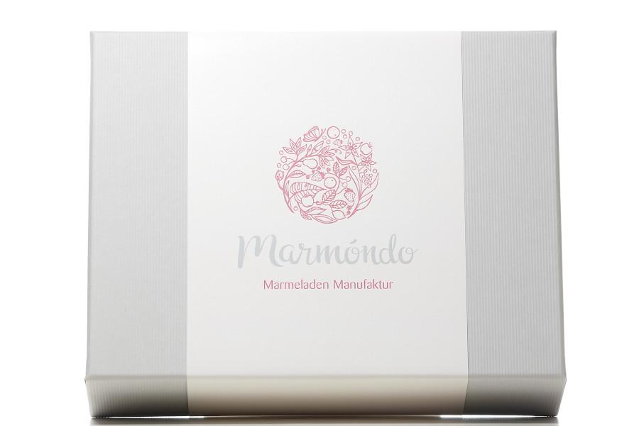 Marmeladengeschenke - Geschenkbox in hellgrau