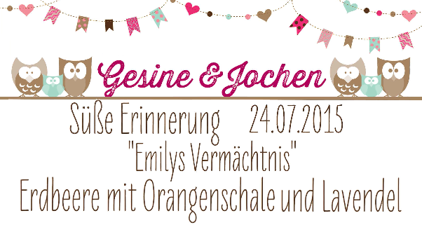 Hochzeitsmarmelade Etiketten Do-it-yourself - Beispiel DIY 1