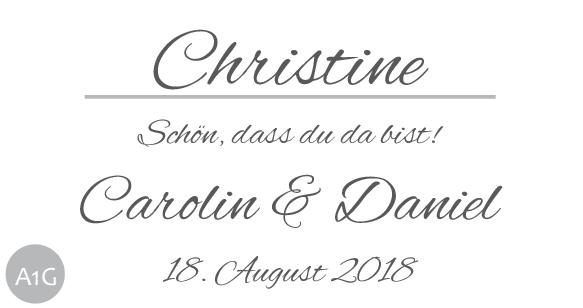 Hochzeitsmarmelade Etiketten Schönes Etikett mit Gästenamen 1