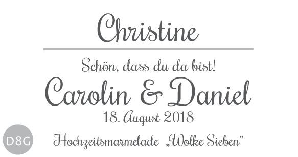 Hochzeitsmarmelade Etiketten Schönes Etikett mit Gästenamen 8