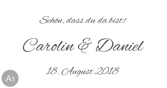 Hochzeitsmarmelade Etiketten Schriftart 1