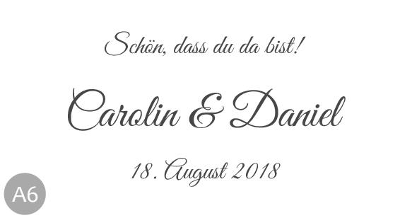 Hochzeitsmarmelade Etiketten Schriftart 6