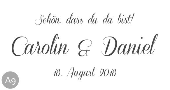 Hochzeitsmarmelade Etiketten Schriftart 9