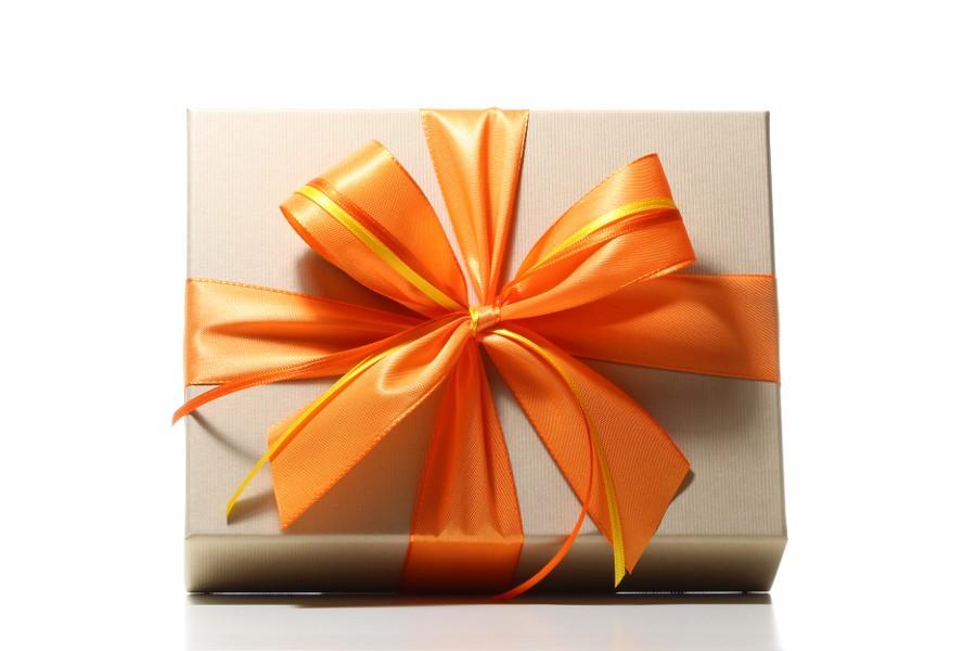 Schöner Geschenkkarton mit Schleife